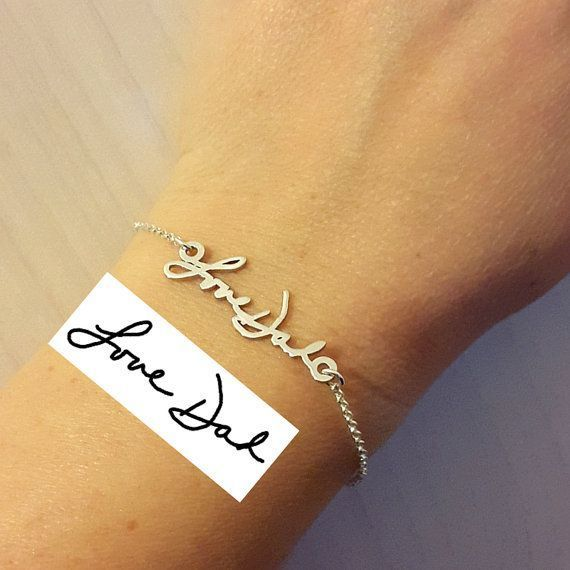 Personalized Signature Bracelet -Handwriting Jewelry - Great Christmas gift