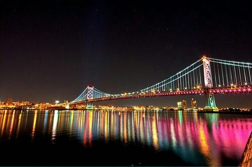 Ben Franklin has got to be the most beautiful lit bridge in Pennsylvania.