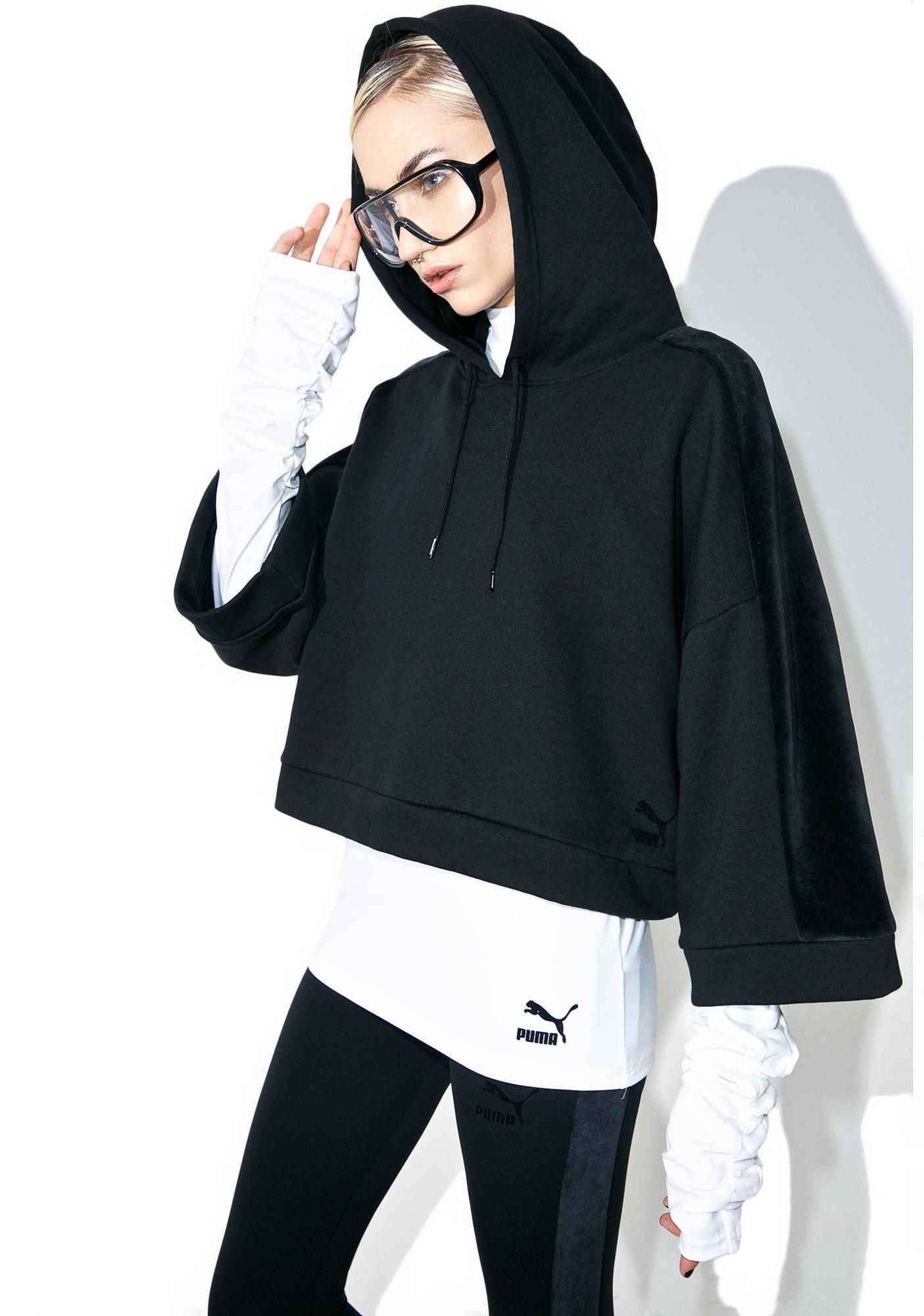 Xtreme cropped hoodie pumas streetwear clothing and wildfox