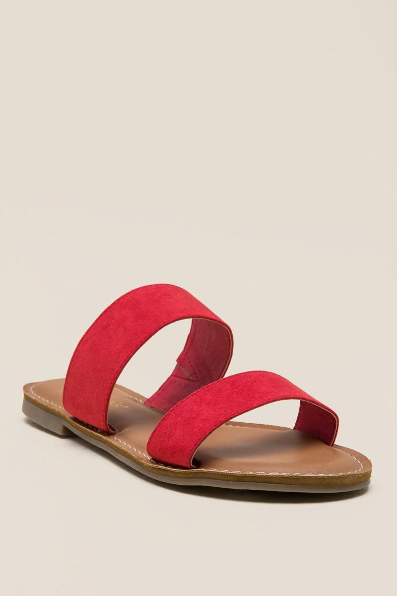 0092a127c0dcc7 Red Melli Double Band Sandal