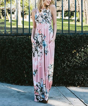 4e1268294c5 Look what I found on  zulily! Dusty Pink Floral Maxi Dress by Jardin ...