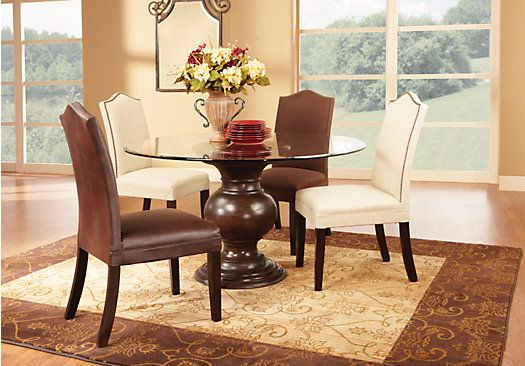 shop for a jordan place cream 5 pc dining set at rooms to on rooms to go dining room furniture id=67603