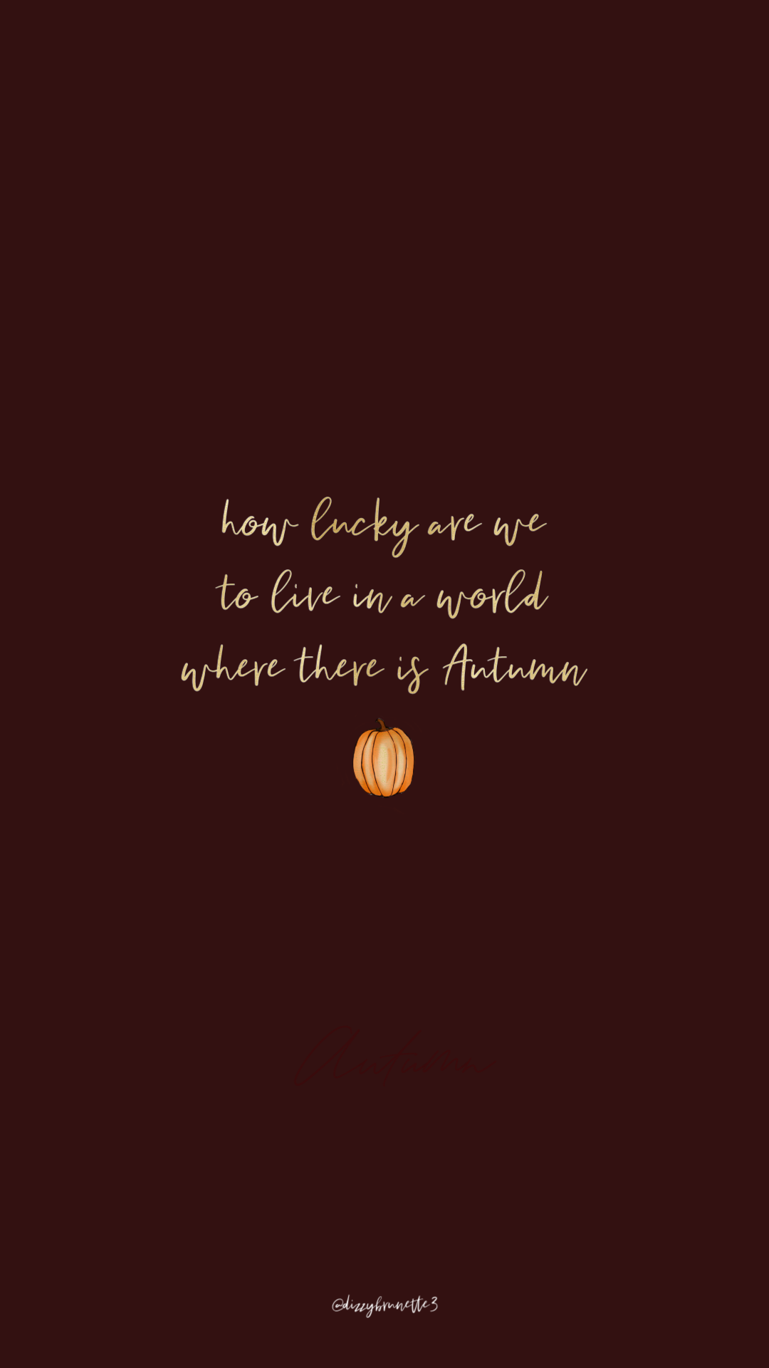 Free Phone Wallpapers : October Edition - Dizzybrunette #octoberwallpaperiphone