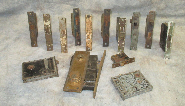 14 Locks Rim Night Latch Dead Bolt Architectural Salvage Door Hardware Mortise x Vintage Door & 14 Locks Rim Night Latch Dead Bolt Architectural Salvage Door ...