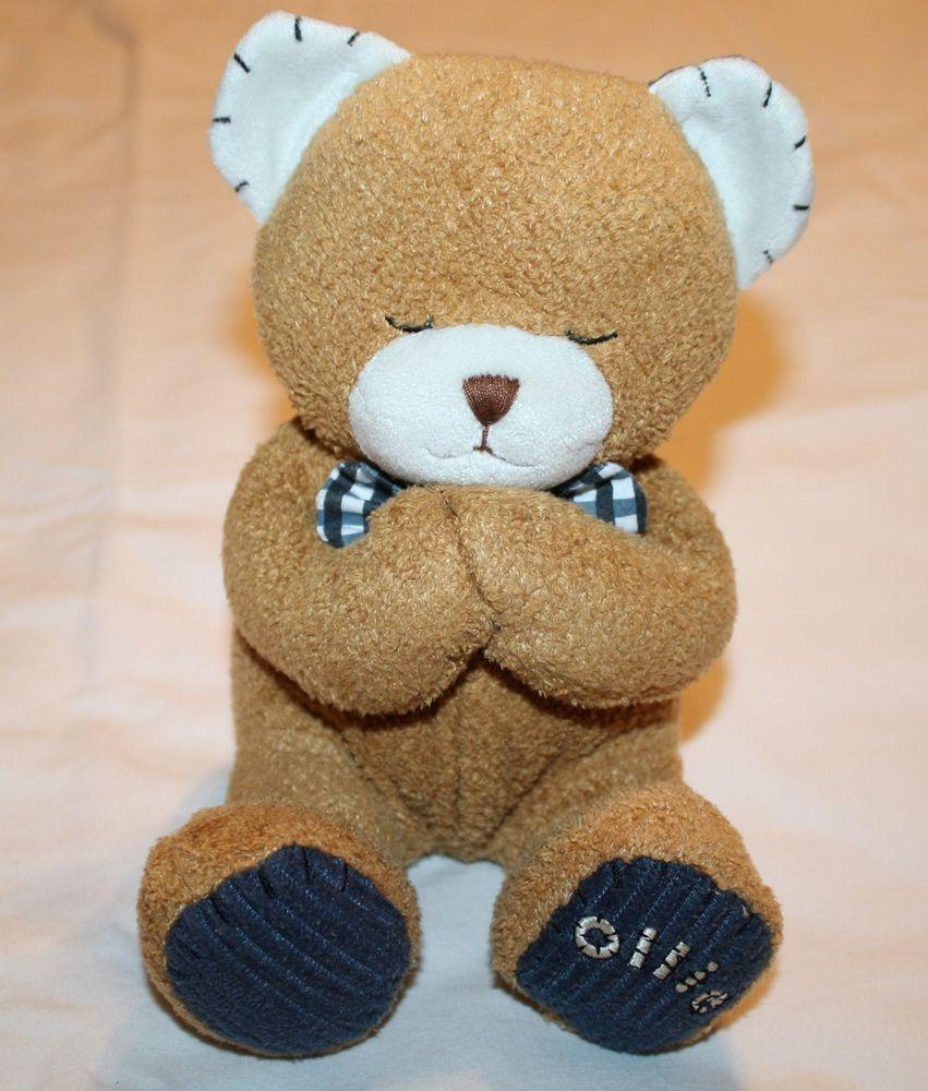 d1d1f766809 Bright Inspirations Ollie Bear Kids II Plush Prayer Prays Now I Lay Me  Stuffed