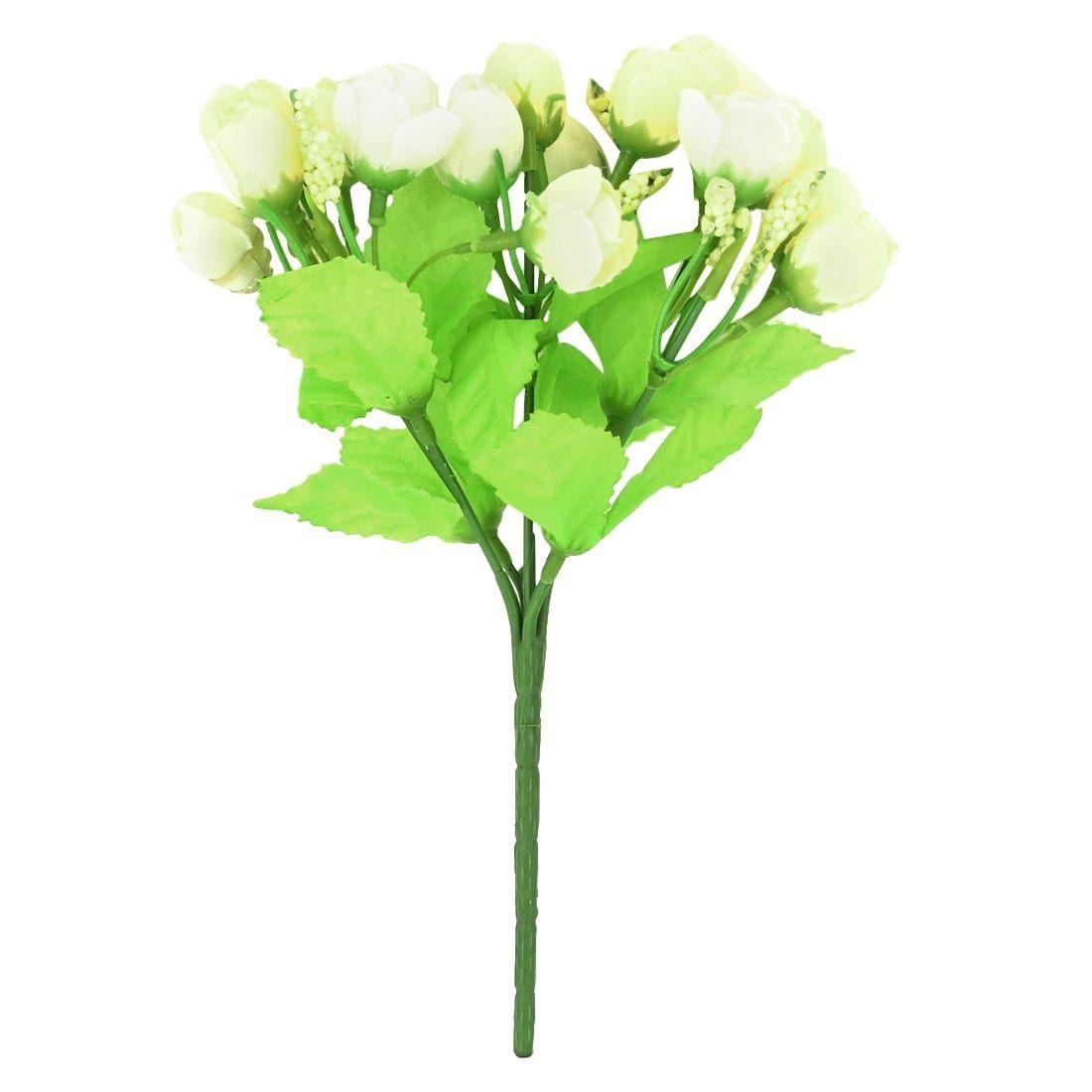 Home Decorating Fibre Beige Rose Bud Emulational Artificial Flower