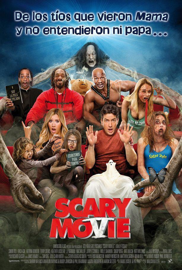 Nuevo Cartel En Español De Scary Movie 5 Scary Movies Scary Movie 5 Scary Movie V