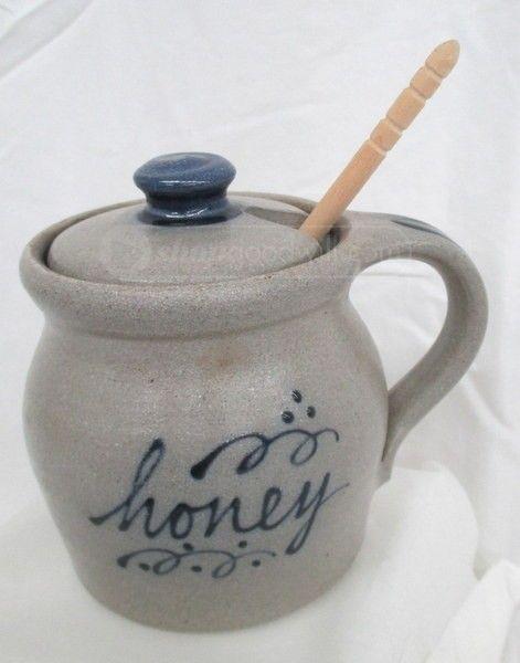 shopgoodwill.com: 021 - Rowe Pottery Stoneware Honey Pot