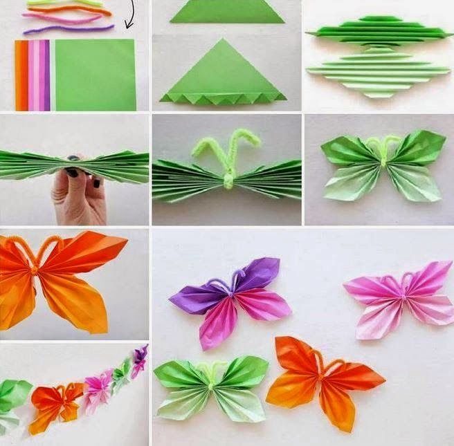 How To Make Paper Butterfly Creative Ideas Paper Butterflies Paper Butterfly Butterfly Crafts