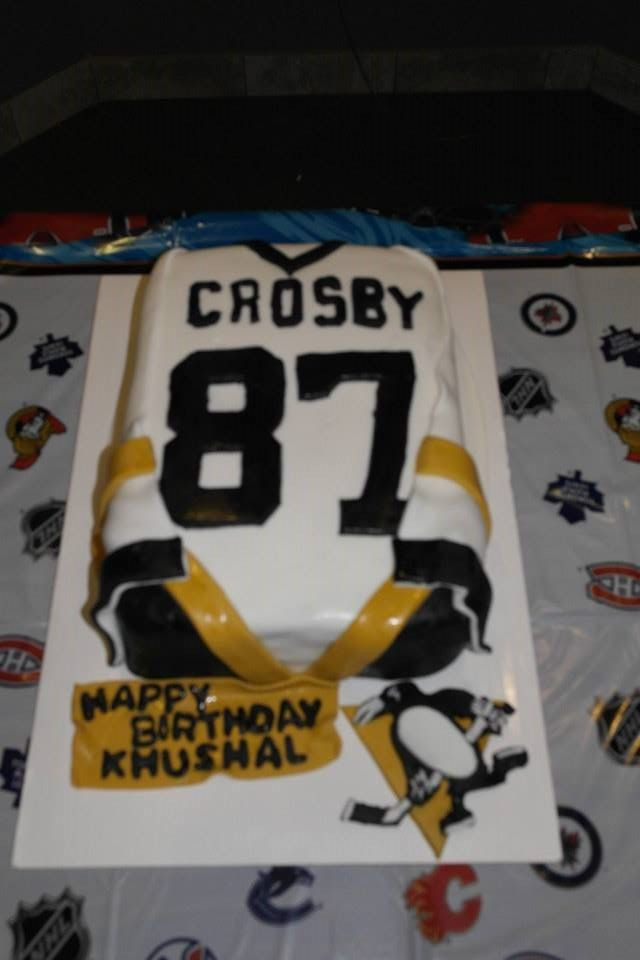 Sidney Crosby Jersey Birthday Cake Pittsburgh Penguins Made By Emerald  Bakery (https://