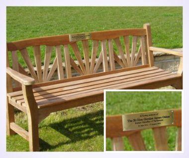 Wonderful Brass Memorial Bench Plaque