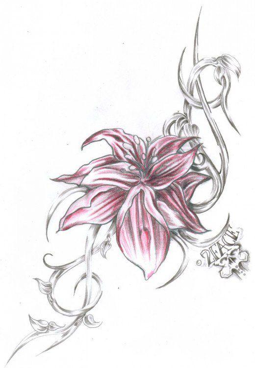 Cataleya Colombian Flower Tattoo Orchid Tattoo Ideas Designs And Orchid Tattoo Tribal Flower Tattoos Flower Tattoos