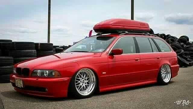 Bmw E39 5 Series Touring Red Slammed