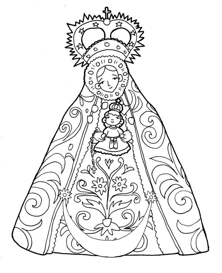 Nuestra Señora De La Caridad De Sanlúcar Para Pintar Imágenes De La Virgen Manualidades Educativas Piedras Decorativas