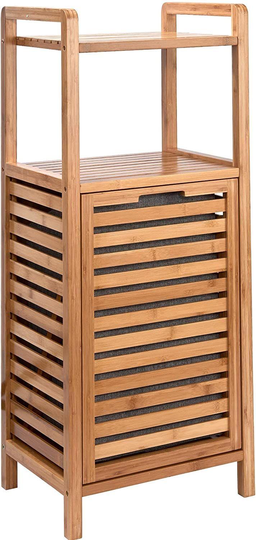 Butlers Big Bamboo Regal Mit Waschekorb Natur Korb Aus Bambus Amazon De Kuche Haushalt