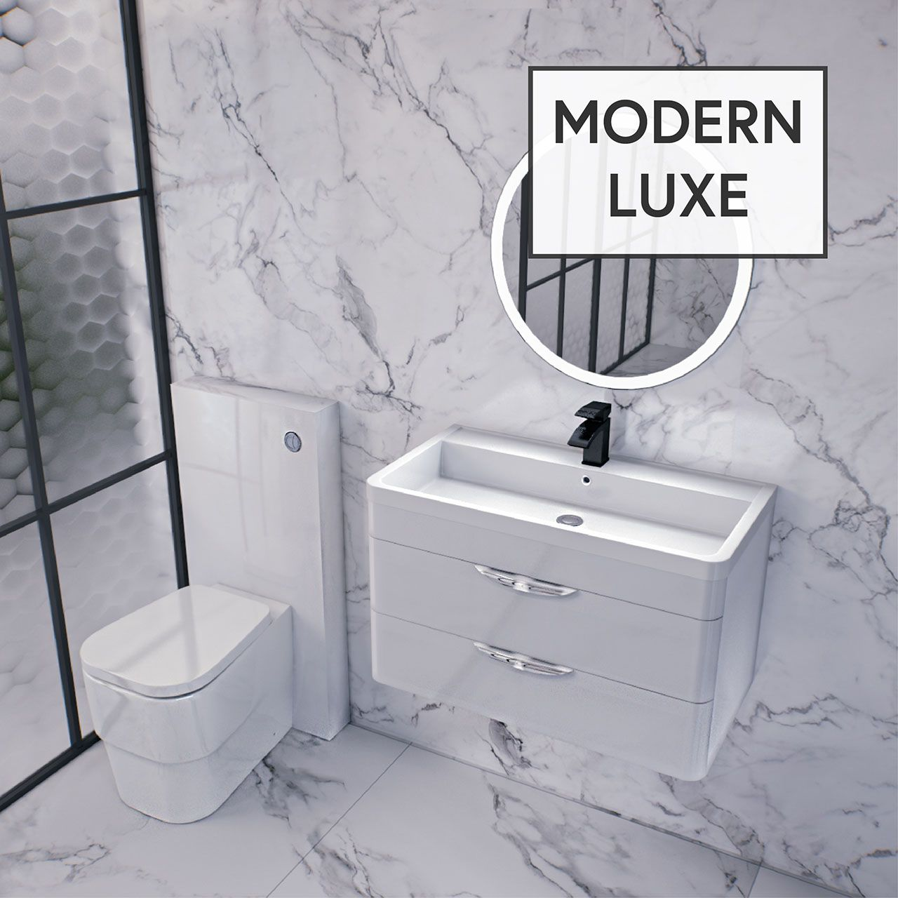 Parade 800mm Wall Hung Vanity Unit Including Polymarble Basin With 1 Tap Hole Wall Hung Vanity Vanity Units Bathroom Style