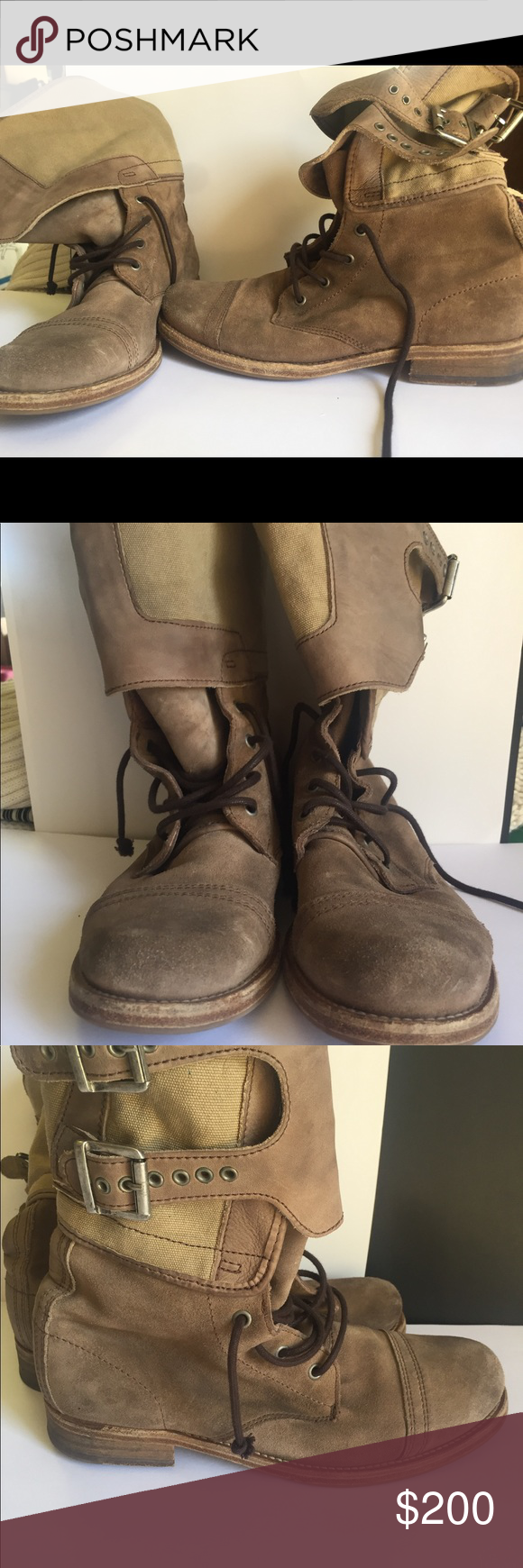 All Saints Boots Only worn 3-5 Times, in great condition! They can be dressed up or worn casually! Love how they can be worn slouchy for an edgy look as well. All Saints Shoes Lace Up Boots