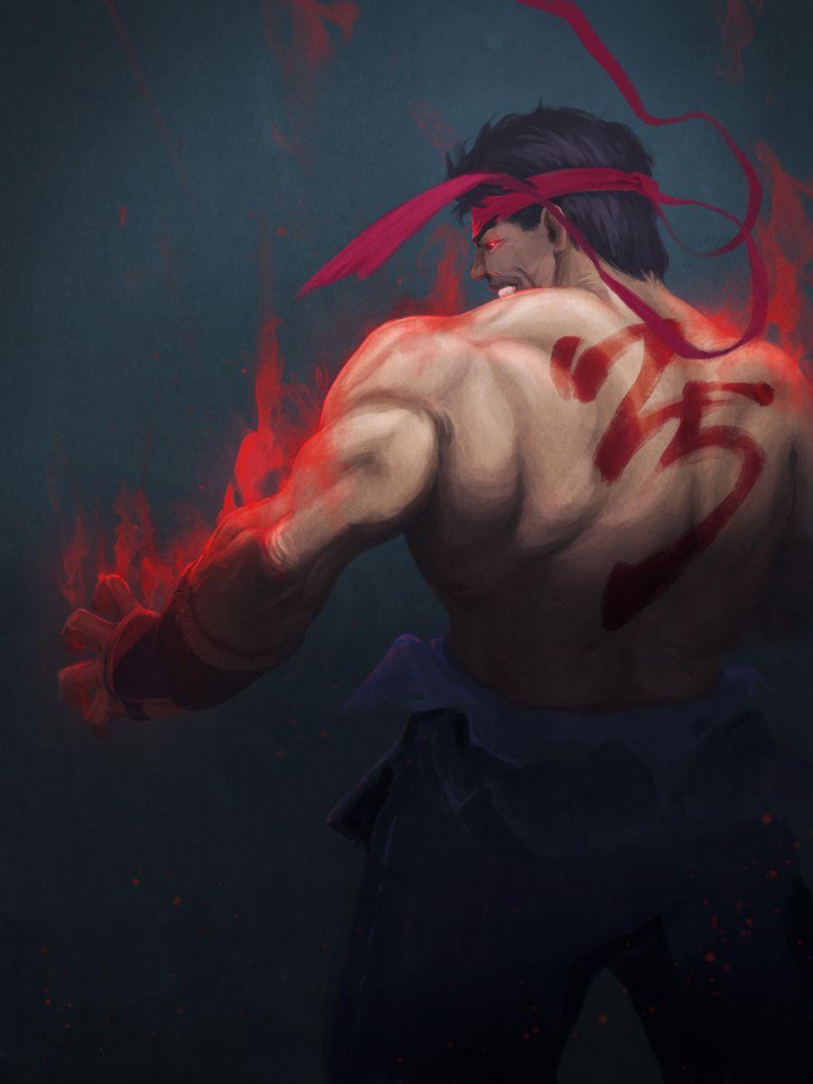 The Art Of Joe Kim Evil Ryu Ryu Street Fighter Street Fighter
