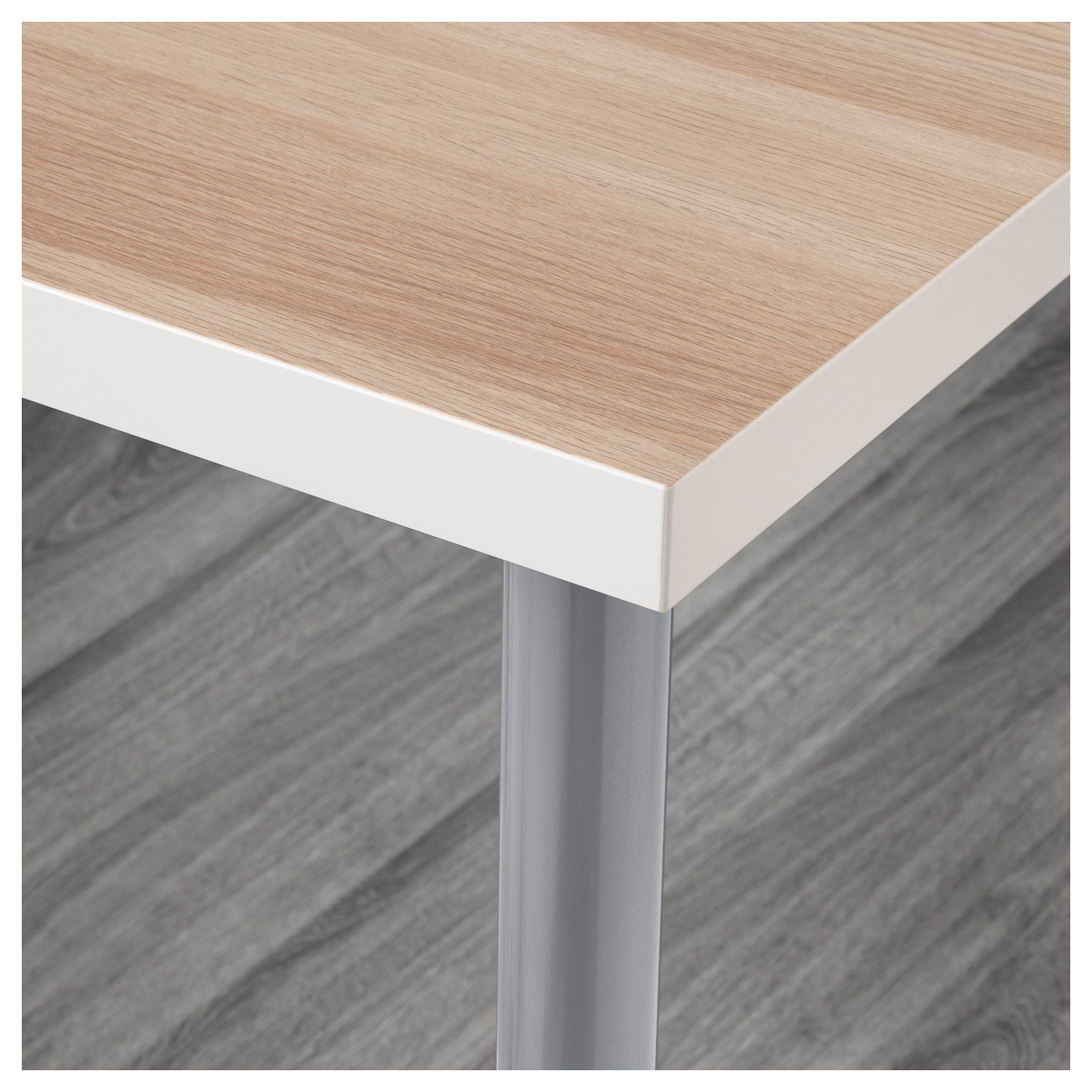 White Wash Gel Stain: LINNMON / OLOV Table White Stained Oak Effect
