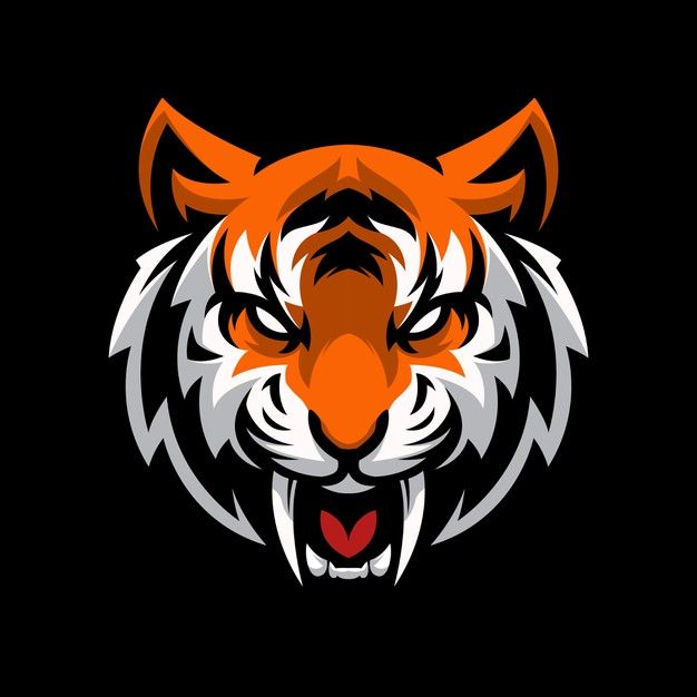 Tiger Head Logo Gaming Mascot Sport Template