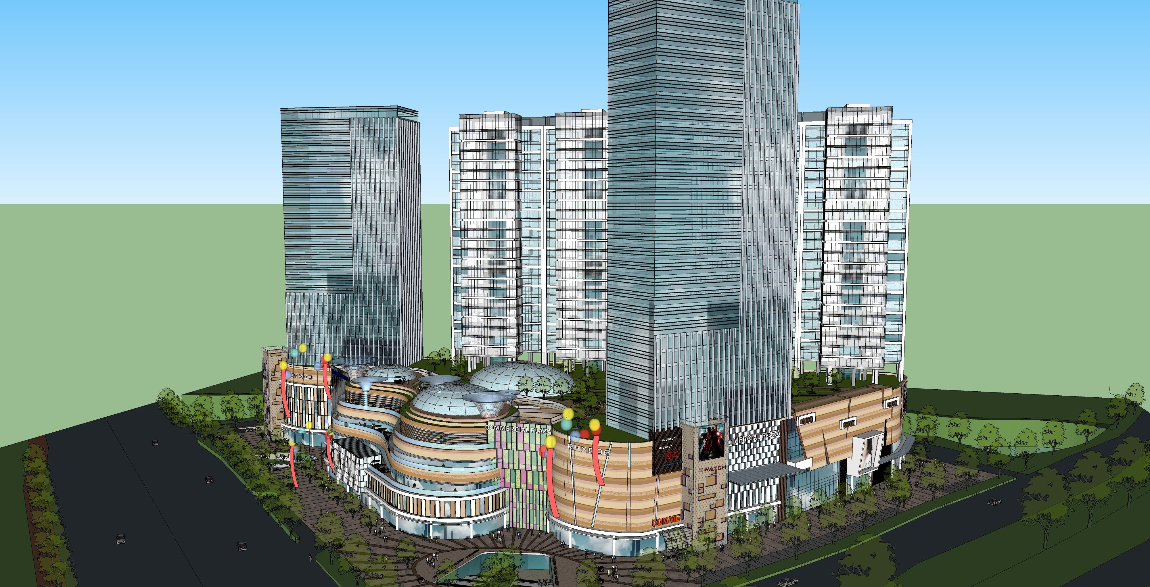 ☆Sketchup 3D Models-Business Building Sketchup Models 11