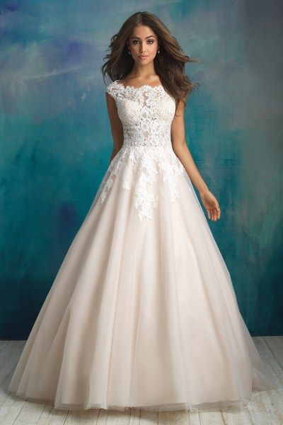 Wedding Dresses In Salt Lake City Utah Ballgown With Lace Allure 9520
