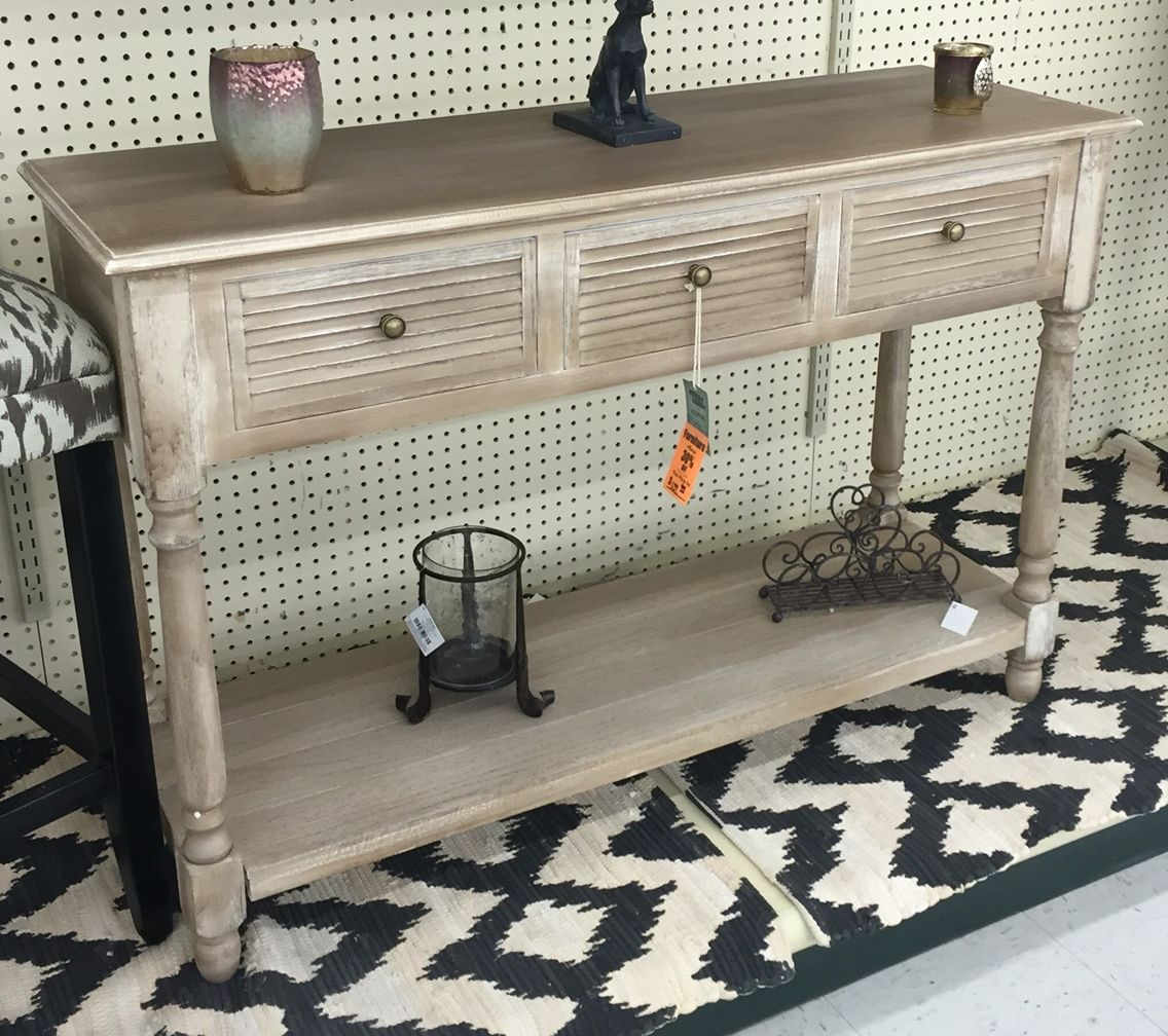 Entry Table From Hobby Lobby Wood Console Table Natural Wood Console Table Diy Console Table