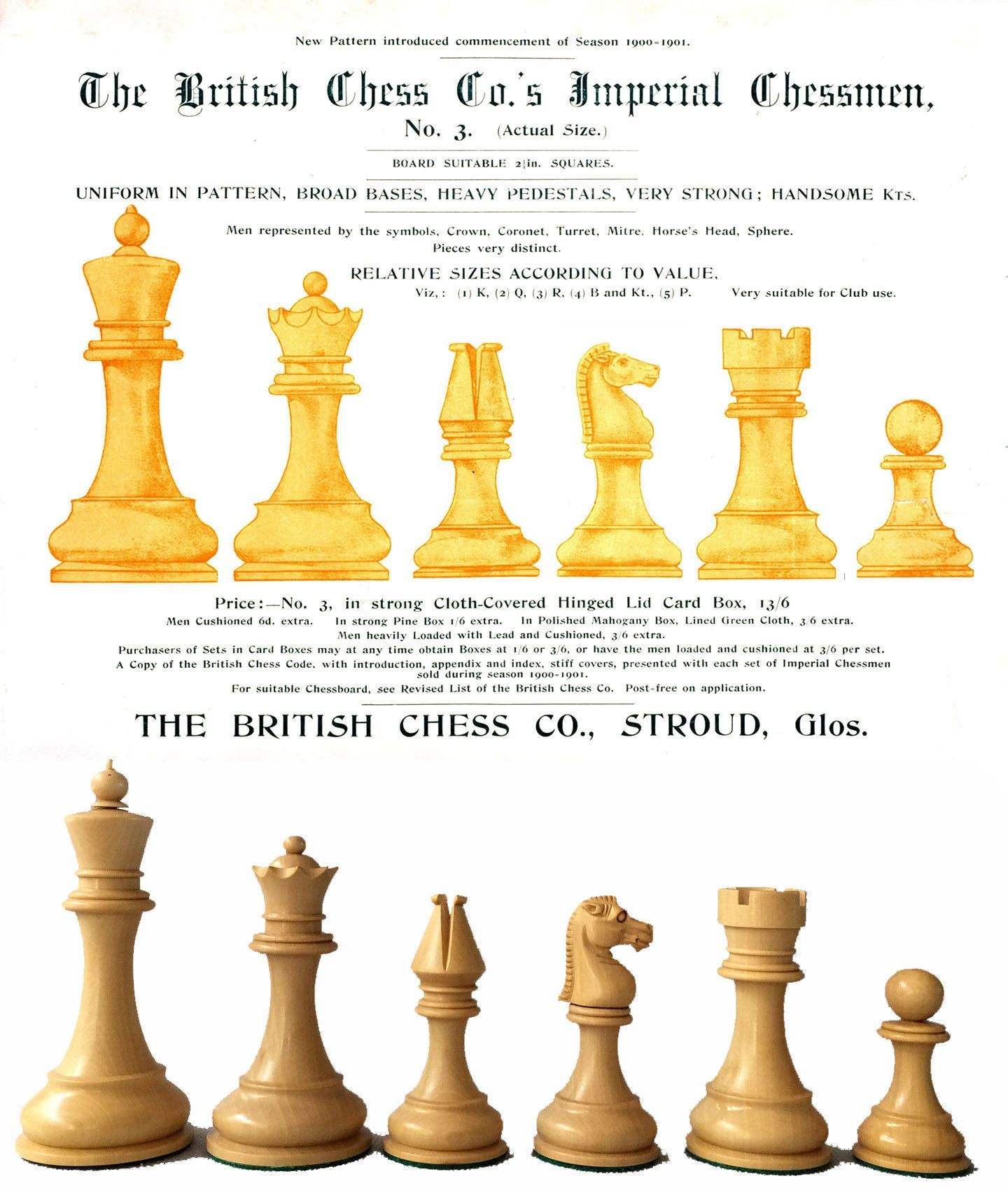 A Reproduction Of The Imaginative British Chess Company Imperial