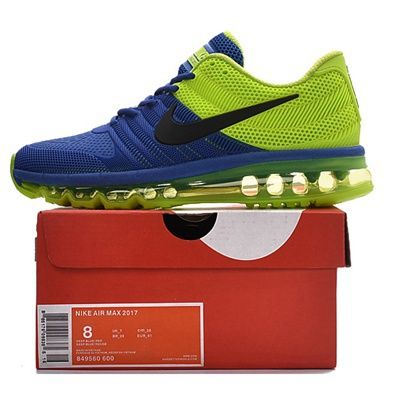 80daf2cdac Nike Air Max 2017 Men Blue Green Running Shoes | Fashion shoes in ...