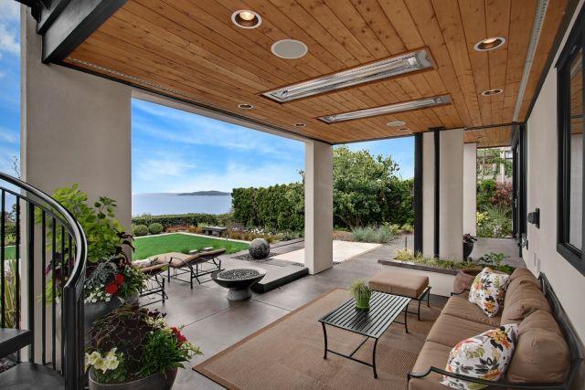 Ideen Uberdachte Terrasse Holz Stahl Modern Sitzecke Outdoor