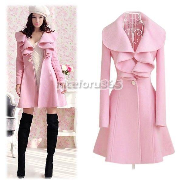 N4U8 Best sale Women Elegant Slim Fit falbaba Long Coat Outwear ...