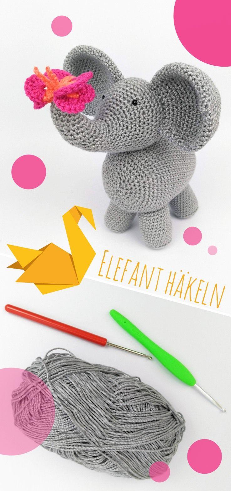 Süßen Elefant häkeln: kostenlose DIY-Anleitung - Talu.de