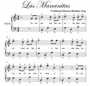 Las Mananitas Piano Las Mananitas Easy Note Piano Sheet Music Pdf