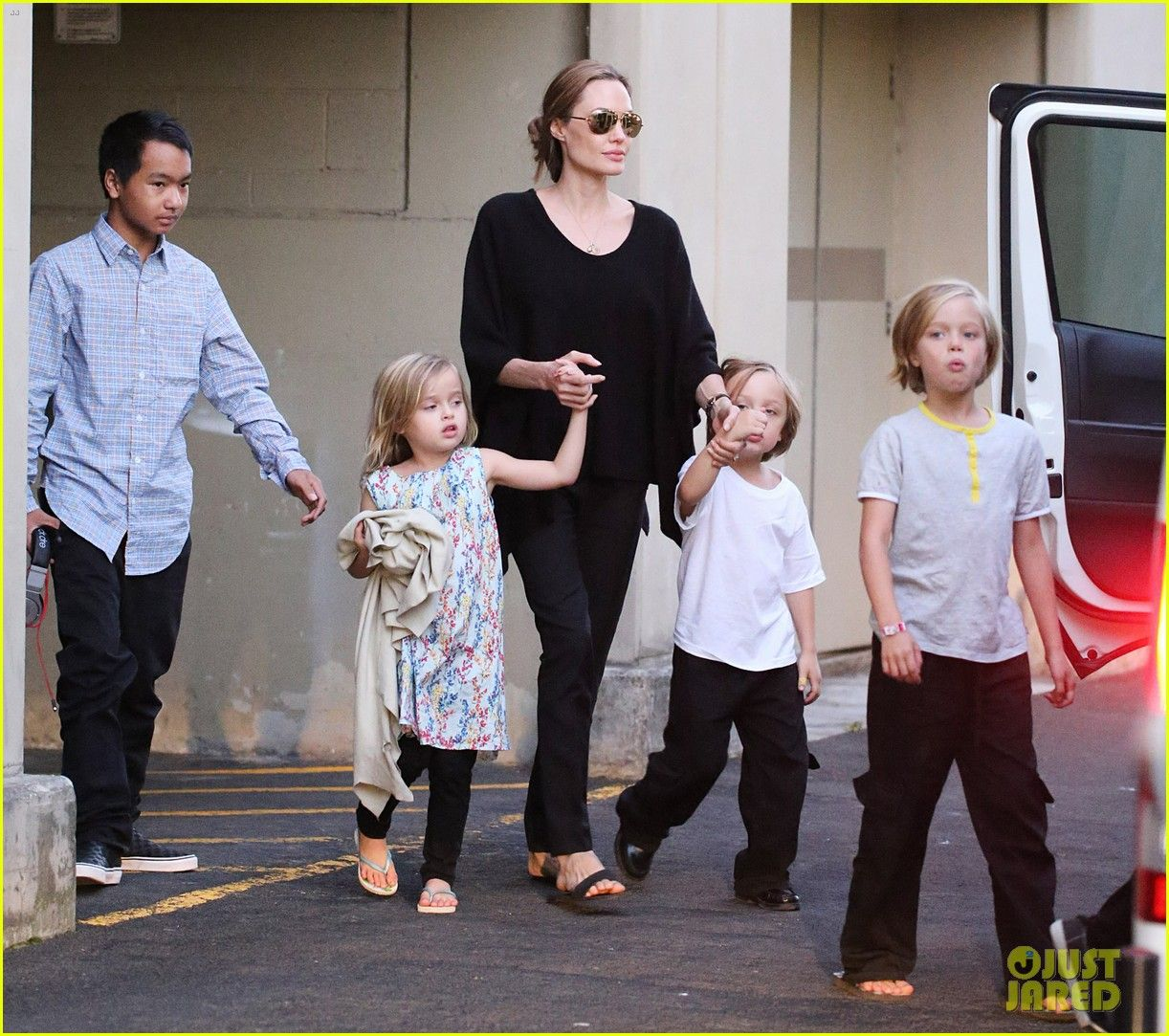 Angelina Jolie Goes Bowling in Australia with All Six Kids ...