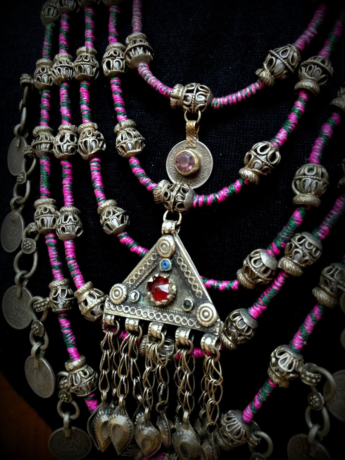 Large banjara necklace with kuchi pendants and coins unusual tribal large banjara necklace with kuchi pendants and coins unusual tribal coin necklace banjara necklace gypsy coin necklace kuchi necklace pink aloadofball Gallery