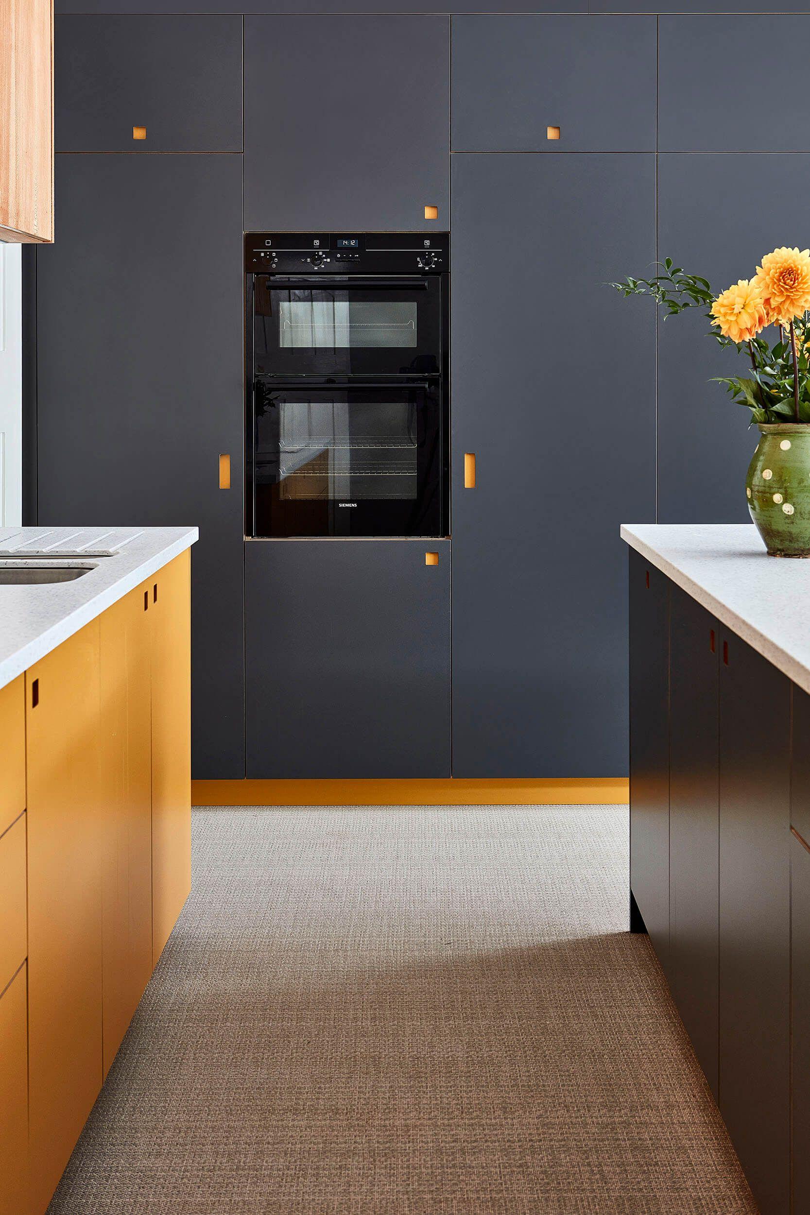 Mustard Yellow And Dark Grey Kitchen Cabinets Modern Kitchen Furniture Dark Grey Kitchen Cabinets