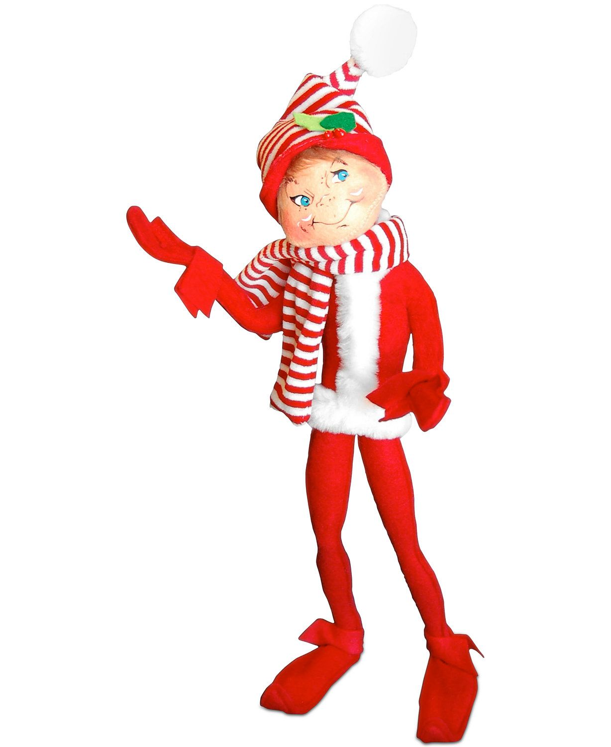Annalee Large Red Merry Mint Elf Collectible Figurine Holiday Lane Macy S Collectible Figurines Figurines Elf