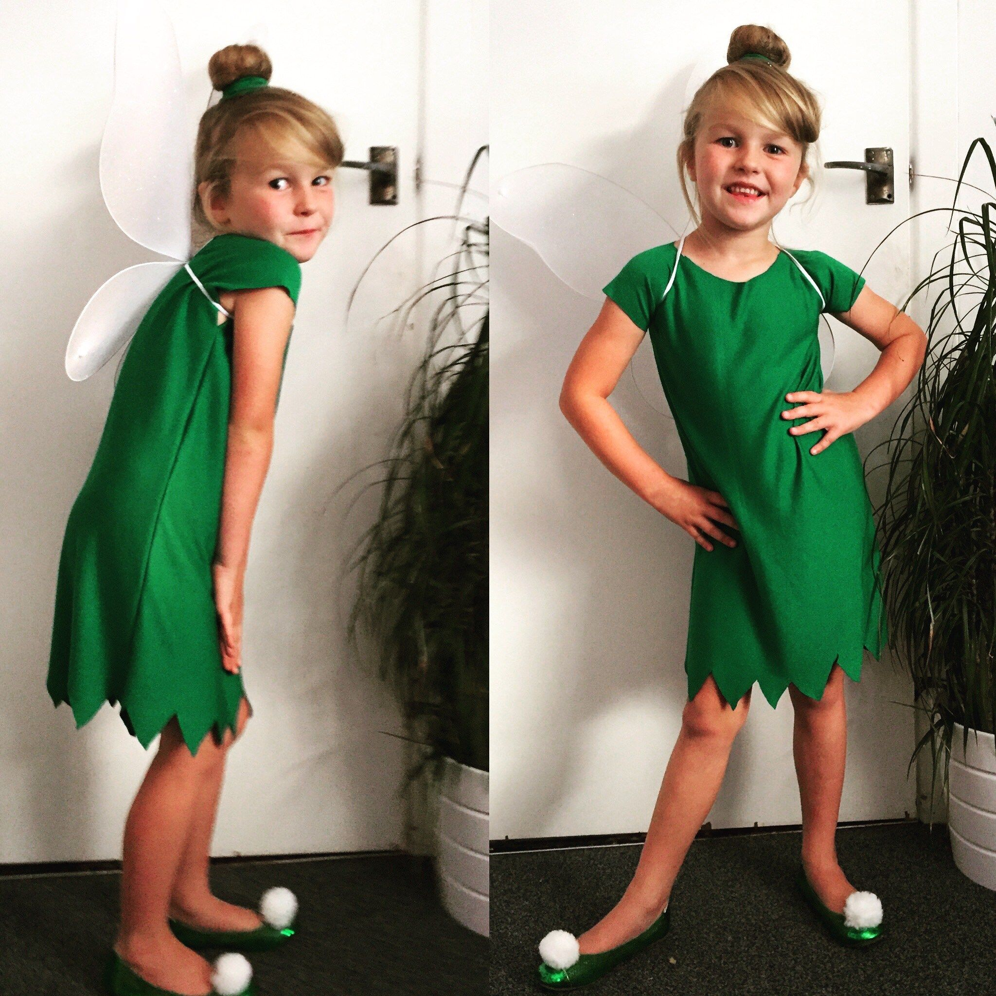 Make Your Own Easy Cheap Tinkerbell Costume Easy Kids Costumes Diy Costumes Kids Tinker Bell Costume [ 2048 x 2048 Pixel ]