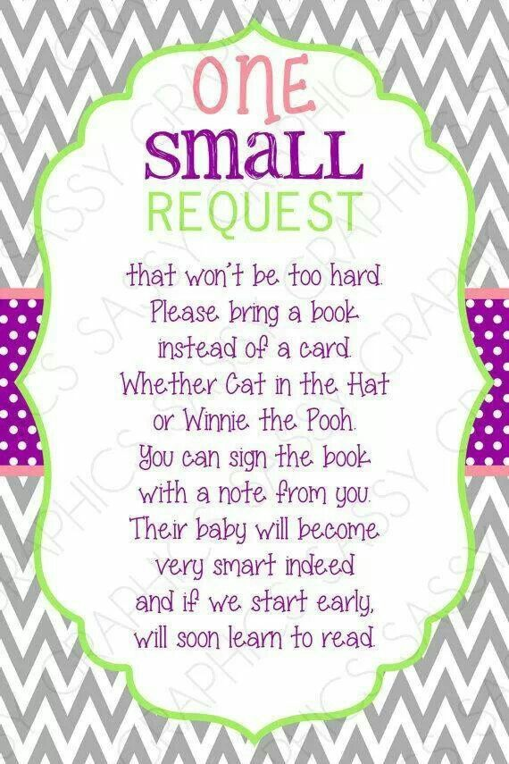 Bring A Book Card Instead Of A Card One Small Request Chevron
