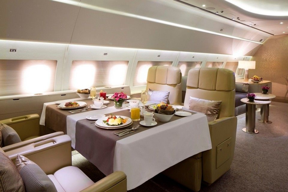 In Pictures Inside Emirates Luxury Private Jet
