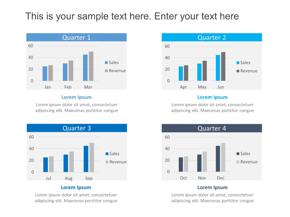 Quarter Sales Chart Template Powerpoint, Business
