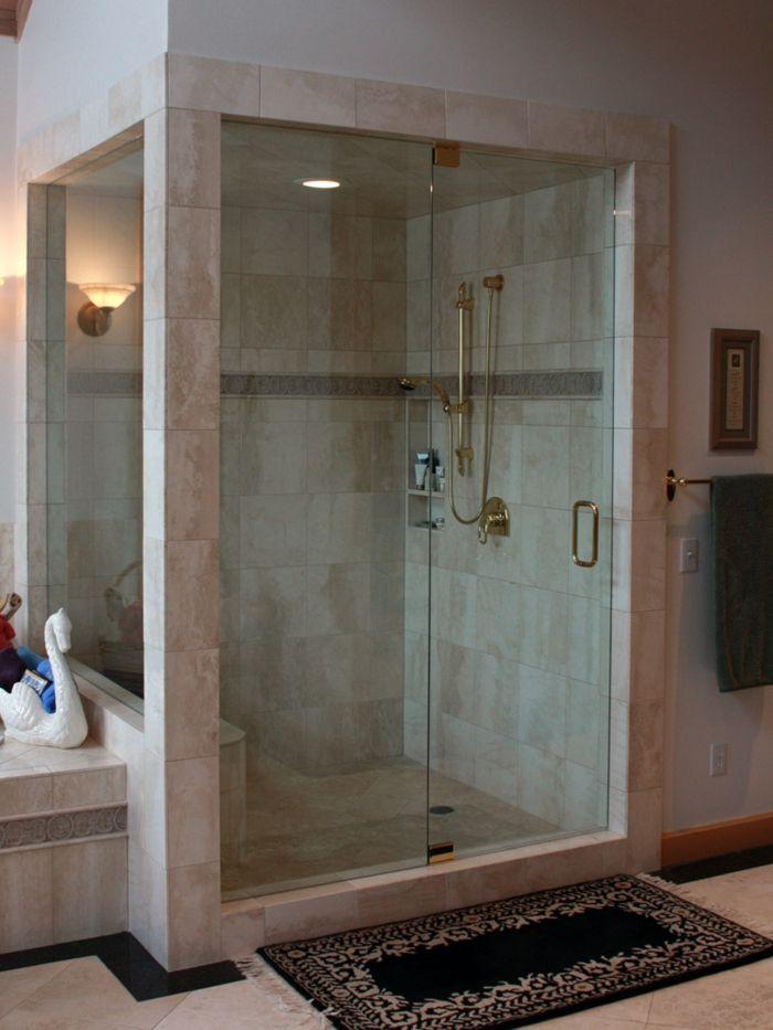 Suelos para ba os ducha de obra con paredes parciales y - Suelos de vidrio ...