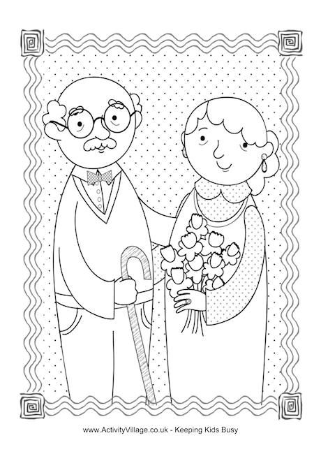Happy Grandparents Day colouring page | Kindergarten Ideas ...