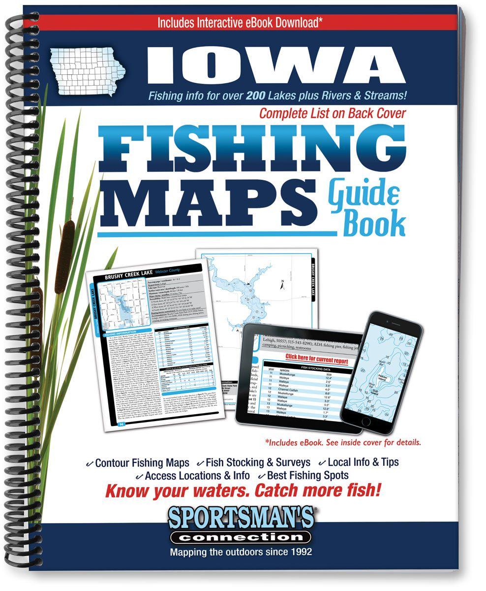 Iowa Fishing Map Guide Fishing maps, Wisconsin fishing