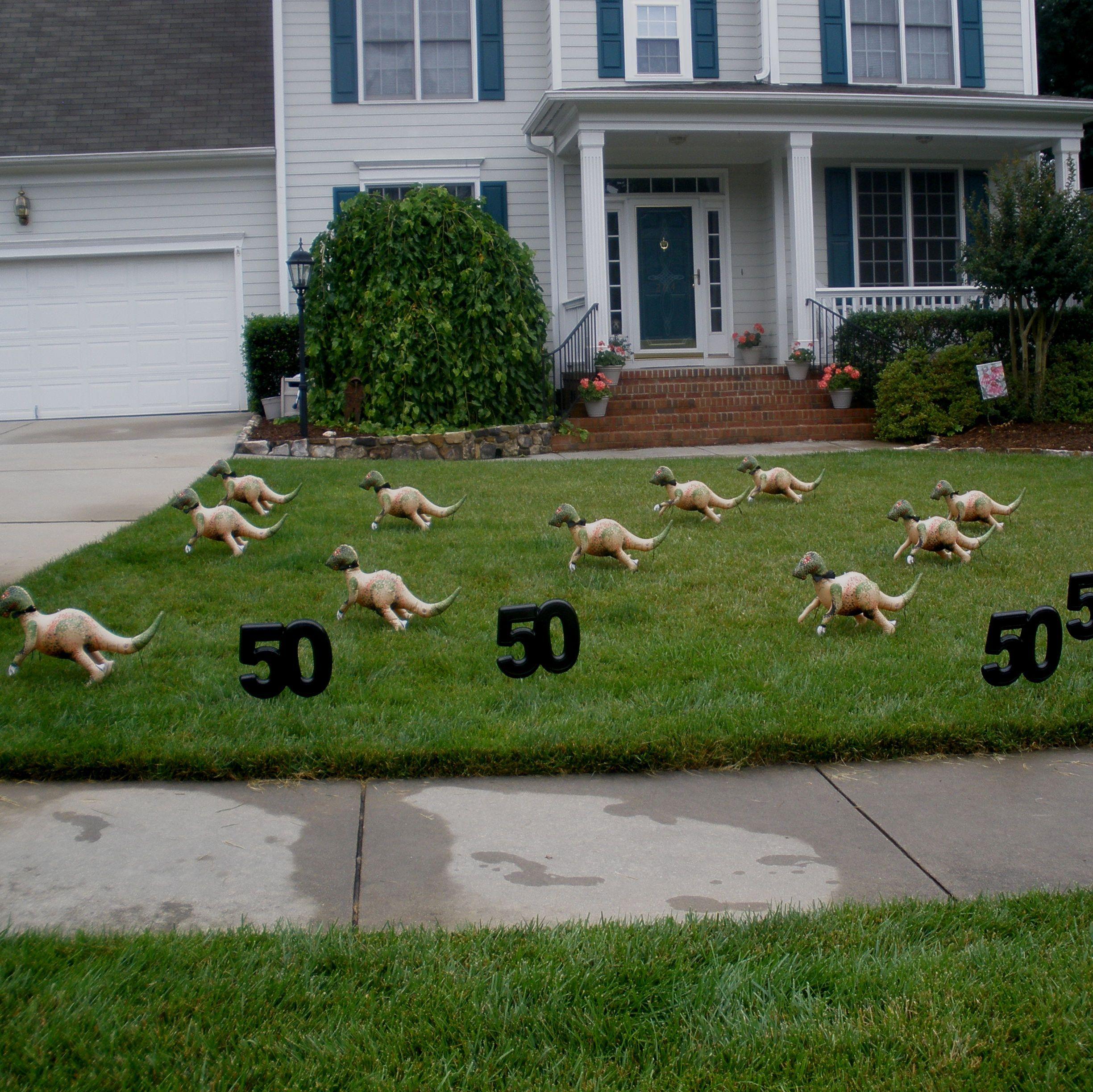 yarddecoratingideas flamingo flocking rentals and other yard decorations