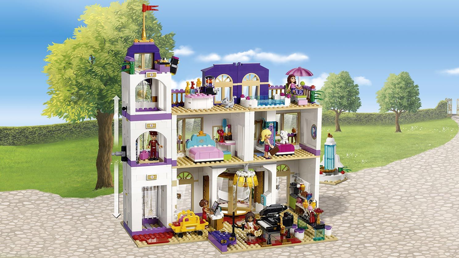 41101 Heartlake Grand Hotel Products Lego Friends Lego Com Friends Lego Com Lego Friends Grand Hotel Legos