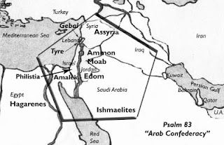 Psalm 83 - map of coalition against Israel. | Psalm 83, Psalms, Bible prophecy