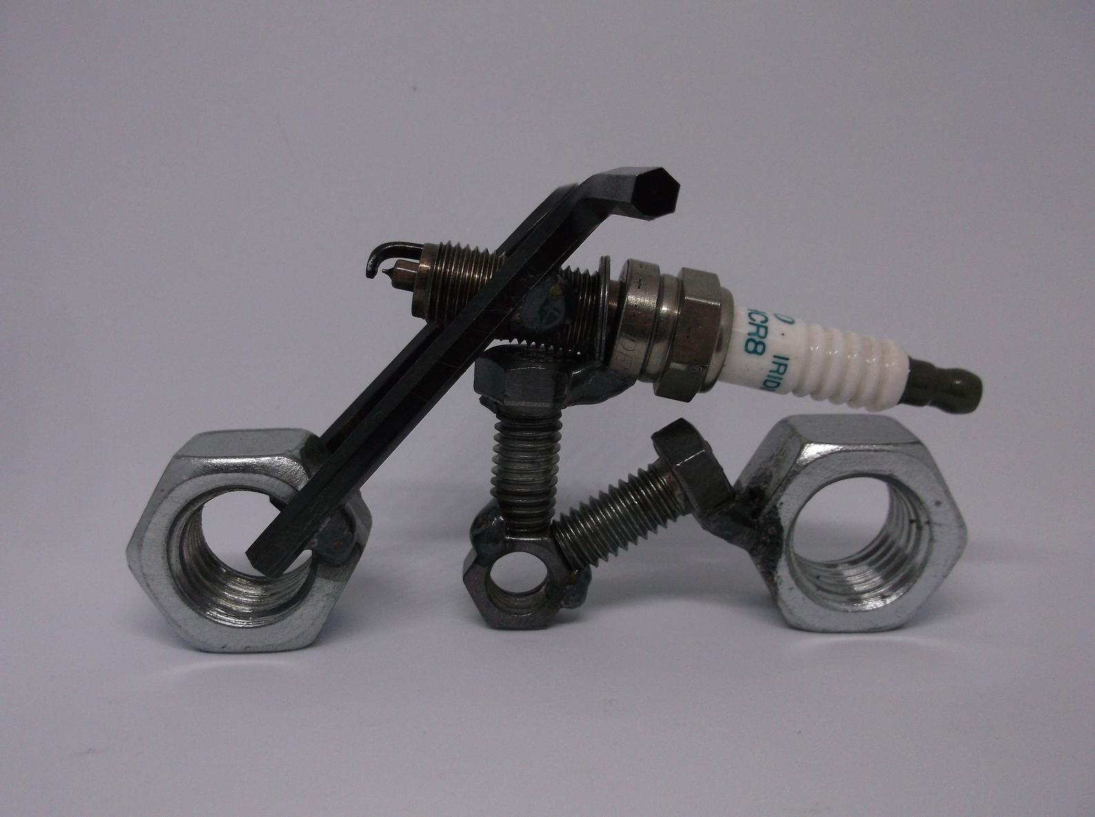 Auf Verkauf Motorrad Recyceltem Zündkerze Motorrad Metall