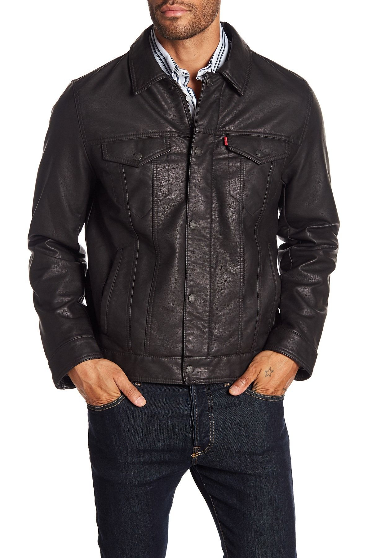 Levi's Classic Faux Leather Trucker Jacket Nordstrom