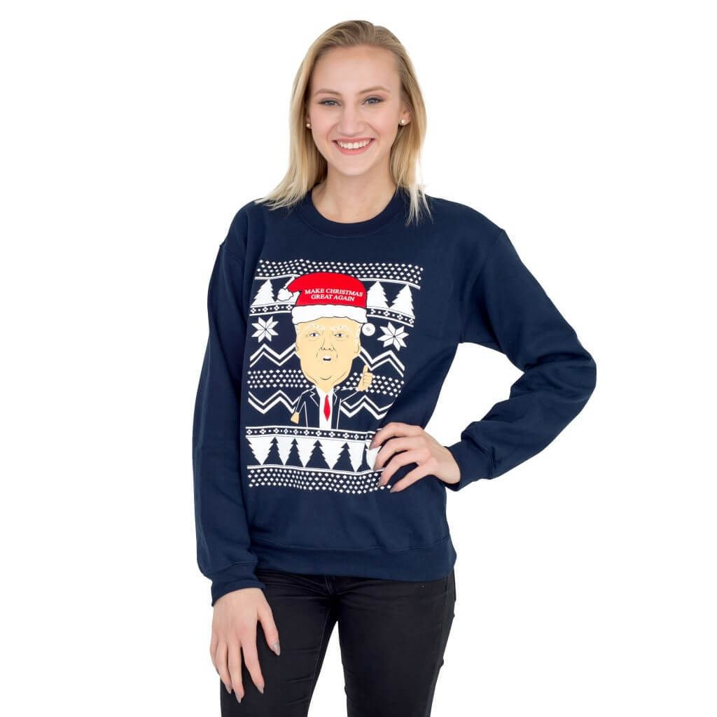 trump make christmas great again ugly sweatshirt